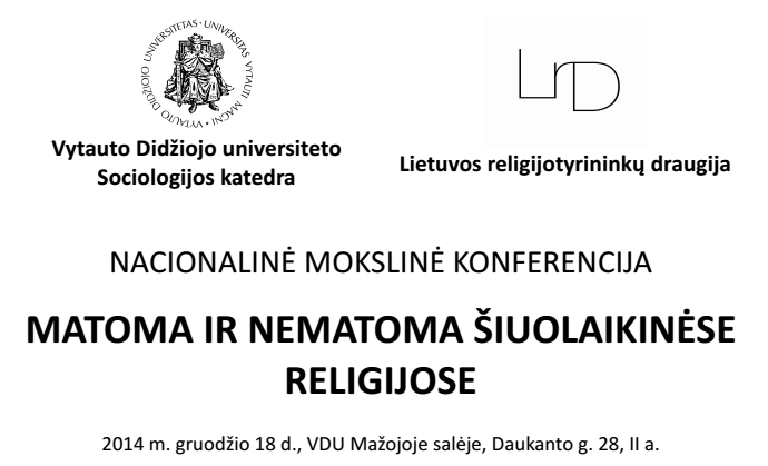 Konferencijos skelbimo fragmentas